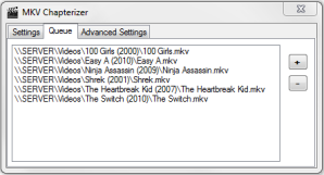 Chapterize your whole DVD collection by using the Queue interface!